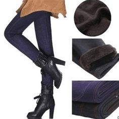 Super Thick Fleece Lined Jeggings with Active Back Pockets - 2 Colors