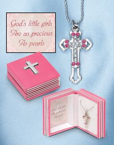 Precious As Pearls Cross Necklace Gift Set. Christmas Gift Idea Great gift ideas at http://KindleLaptopsetc.com