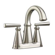 American Standard Kirkdale Brushed Nickel 2-Handle 4-in Centerset WaterSense Bathroom Faucet