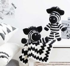 Melvin the Zebra Amigurumi Crochet Pattern