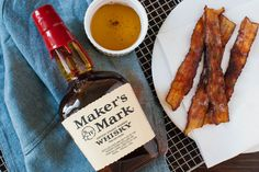 Bacon infused bourbon - great for a Bloody Mary or a twist on an Old Fashioned!