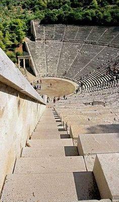 *GREECE~Ancient Theatre of Epidaurus, Peloponnese mainland destination Ancient Ruins, Ancient Greece, Ancient Artifacts, Ancient Egypt, Albania, Ancient Greek Theatre, Ancient Greek Architecture, Greece Architecture, Myconos