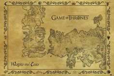 Game of Thrones - Poster - Antique Map