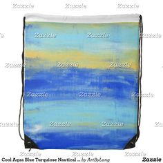 Shop Cool Aqua Blue Turquiose Nautical Grunge Art Drawstring Bag created by ArtByLang. Grunge Art, Black Rope, Black Trim, Aqua Blue, Drawstring Backpack, Nautical, Cool Stuff, Prints, Bags