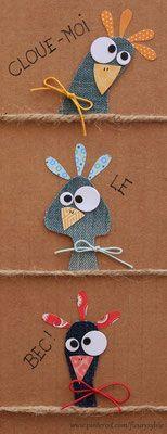Felt Crafts Diy, Paper Crafts, Art For Kids, Crafts For Kids, Fabric Cards, Christmas Card Crafts, Chicken Art, Paper Artwork, Animal Cards