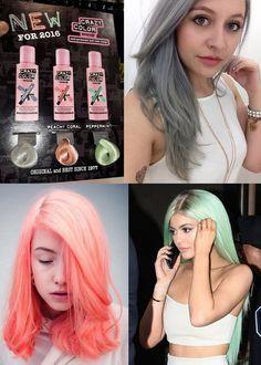 Cominciano a vedersi online le prime foto dei nuovissimi colori pastello Crazy Color: Grigio Grafite, Rosa Pesca e Verde Menta!!!!!! Ancora più pazzi e ancora più pastellosi, prepariamoci all'arrivo di questi nuovi colori ;-)