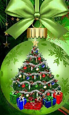 Merry Christmas Pictures, Christmas Scenes, Noel Christmas, Merry Christmas And Happy New Year, Christmas Colors, Christmas Greetings, Vintage Christmas, Christmas Bulbs, Christmas Cards