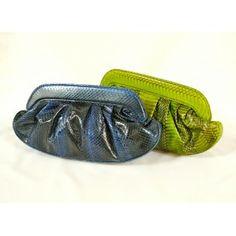 2afaa0445 FANNY - 100% Handmade Genuine Exotic Leather Cobra Snake Skin Women  Designer Clutch - FANNY