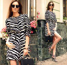 Zara Coat, Oasap Sunglasses, Vintage Bag