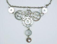Halskette Zahnräder Steampunk Zahnrad Anhänger an von ArtJewelryFun