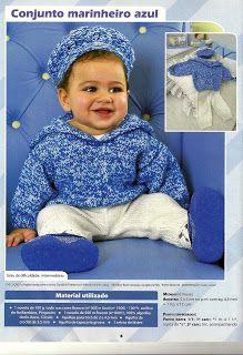Graça Tricô e Crochê: Conjunto marinheiro de tricô para bebes,lindo