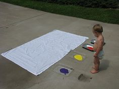 - I AM SO DOING THIS!!! Play Create Explore: Body Painting on a Sheet