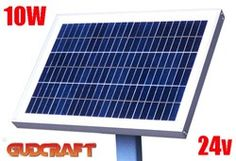 ALEKO® 10W Solar Panel for any 24V DC application (gate opener, portable charging system, etc.)