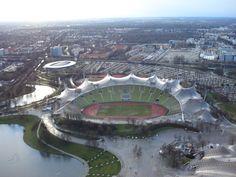 Het Olympia stadion in München waar de Mannschaft van Bayern München speelt