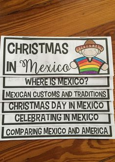 Christmas in Mexico flip up book --I love that this is all together, 1 piece, and makes things EASY for Christmas Around the World