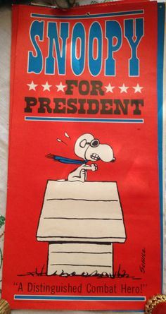 Snoopy for President Poster