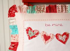 I love the patchwork ruffle, such a great idea!~Look for Tausha's fabric line from @rileyblake in September:)