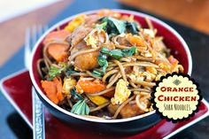 A delicious twist on Orange Chicken, this simple recipe is chock full of veggies, too! - cut out garlic, honey?