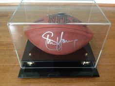 Steve Young signed football with display case- Steiner Sports Memorabilia