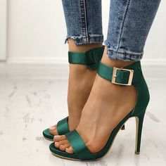 Make the spring more colorful  Fashion Open Toe Cocktail Party Thin Heel Pump Searc