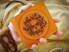 Ручная работа Кожаный кошелёк с кармашками под медиаторы