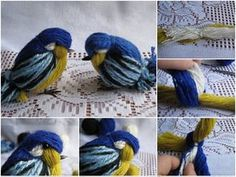 The yarn birdie is easy and fun to make in minutes and you can make your own by using different colored yarns and creating more fun patterns. They can be great ornaments for holidays or home decoration elements for kids room, such as birdie mobile. The cutest yarn birdies can be good gifts for babies and little kids, too. Materials Needed: Yarn – 3-4 different colors, Scissor, Cardstock paper, Ruler, Craft glue, Craft wire, Craft pliers, Beads – 2 black, medium size, Needle and black thread…