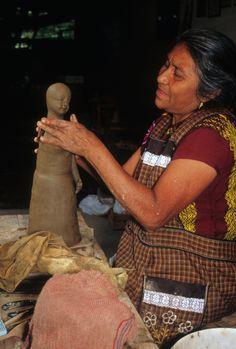 Guillermina Aguilar at work, Ocotlan, Oaxaca, Mexico