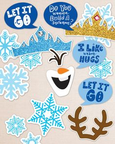 Frozen Inspired Birthday Photo Booth Props. Print by DesignTreats