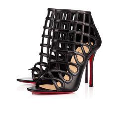 d66c02049728 CHRISTIAN LOUBOUTIN Cajac 100 Black Leather - Women Shoes - Christian  Louboutin.  christianlouboutin