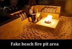 Cool Home Ideas - Gallery I looooove this its so ooooooooooooooooooooooooo great the kids have fun playing in the sand and the hubby and I can cozy up!