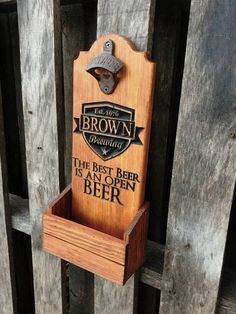 Unique Groomsmen gift idea - Personalized Bar sign - Barn Wedding - Best man Gift - Wall mounted beer bottle opener - Beer gifts for men Groomsmen Gifts Unique, Groomsmen Gift Box, Wedding Gifts For Groomsmen, Groomsman Gifts, Groomsmen Proposal, Old Wine Bottles, Recycled Wine Bottles, Wine Bottle Crafts, Clay Pot Crafts