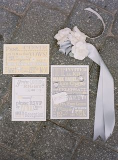 Fabulous Wedding Ideas! / beautiful gray + yellow paper suite | Ali Harper #Invites; #Design; #Font; #Wedding;