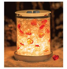 CHARMER ~ All lit up! Don't like the Sea Glass that comes with it? Add your own or add a photo. ORDER ONLINE ~ SHIPS DIRECT https://spollreisz.scentsy.us