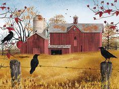 4 Seasons Red Barn - Autumn Gold