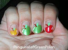 So cute! Penguins Left Green Polish: August 2012