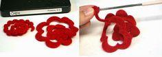 VillarteDesign Artesanato: Como fazer um móbile de rosas de feltro