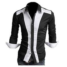 Partiss Herren Slim Business Hemd Shirt