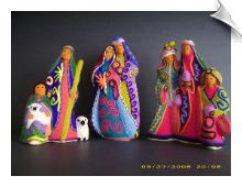 Huichol Beaded Nativity Set- Really unusual and very bright.