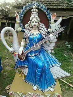 Ramayana kumar and raj Durga Ji, Saraswati Statue, Saraswati Goddess, Shiva Shakti, Saraswati Mata, Durga Images, Radha Krishna Images, Krishna Art, Lord Krishna Wallpapers
