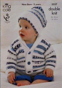 Babies Jacket & Hat Comfort DK Knitting Pattern