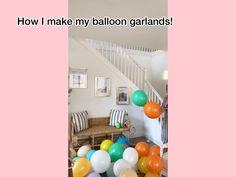 Diy Party Garland, Baloon Garland, Diy Party Crafts, Easy Party Decorations, Birthday Balloon Decorations, Birthday Balloons, Diy Birthday Backdrop, Birthday Garland, Balloon Arch Diy