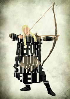 Legolas Inspired Poster Minimalist LOTR Typography by GeekMyWalL, $25.00