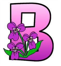 ArtbyJean - Paper Crafts: Shaded magenta to pink with violets on a SET OF ALPHABETS A to Z Clipart to cut and past on your paper crafts - For digital arts, collage, crafts, decoupage, cards and scrapbooks.