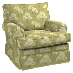 A lovely addition to your living room seating group, this cozy arm chair showcases floral-print upholstery and a rolled silhouette.