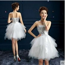 2016 neue Mini Kurze Heimkehr Kleider Sparkly Pailletten Top Rüschen Nette Prom Party Kleider Fashion Tiered Short Abendkleid(China (Mainland))