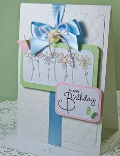 Card by Kirsty Wiseman, using the ProMarker Limited Edition Spring set colours.