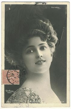 Mlle Arlette Dorgère (1880 - 1965) famous French actress, singer and dancer of the early 1900's.