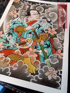 Samurai Warrior Art by Paulo Barbosa - Ariuken Art on Facebook