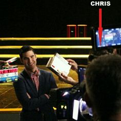 The way Darren smiles at Chris...