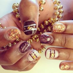 Fall nails with studs